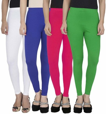 SwaNit Ankle Length  Legging(White, Green, Blue, Pink, Solid)