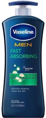 Vaseline Men Fast Absorbing Healing Moisture Body Lotion(600 ml)