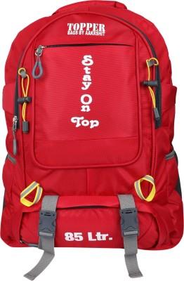 Topper Adventure XL Trekking Backpack| Waterproof Rucksack| Hiking| Camping Travel Backpack for Men and Women. Rucksack  - 85 L(Red)