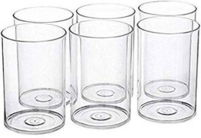 ATMAN Unbreakable Stylish Transparent Water Drinking Glass Set 300 Ml Glass Set ABS Poly Carbonate Plastic (Plastic, 300 ml, Clear, Pack of 6) Glass Set(Plastic, 300 ml, Clear, Pack of 6)