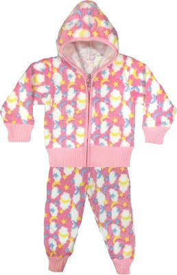 Icable Kids Nightwear Boys & Girls Printed Velvet(Pink Pack of 1)