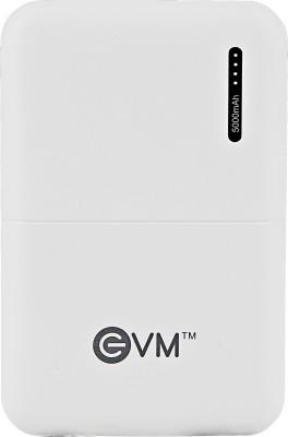 EVM 5000 mAh Power Bank White, Lithium Polymer EVM Power Banks