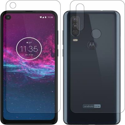 Yoox Front and Back Screen Guard for Motorola One Action(Pack of 2)