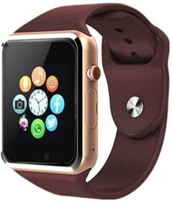 NEFI SMARTWATCH WITH CAMERA AND SIM SUPPORT Smartwatch(Brown Strap, Free)