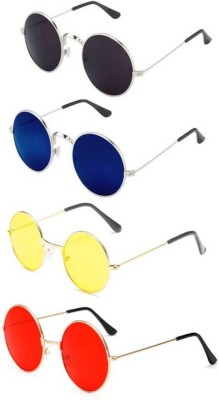 Riffko Round Sunglasses(Multicolor)
