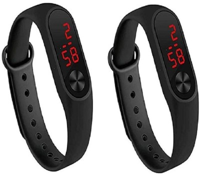 reloaded digital led combo pack Combo of Black Color Unisex Digital LED Silicone Wrist M3 Band Watch for Boys Digital Watch  - For Boys & Girls