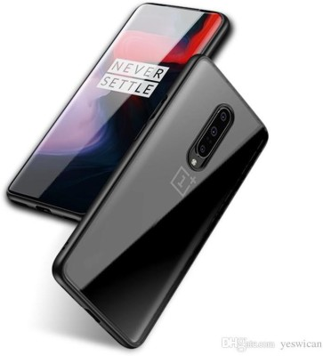 Meyaar Back Cover for Oneplus 7 Pro, 1+7 Pro(Black, Camera Bump Protector)
