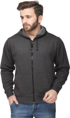 Yes'No Full Sleeve Solid Men Sweatshirt