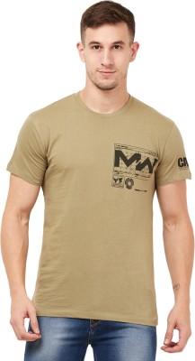Free Authority Printed Men Round Neck Green T-Shirt