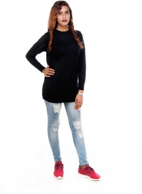 TrendyFusions Casual Full Sleeve Solid Women Black Top