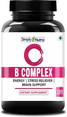 Simply Nutra Vitamin B Complex Methylcobalamin, Folate, Biotin - Boost Energy(120 No)