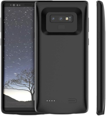 Case Creation Back Cover for Samsung Galaxy Note 9 Battery Smart Power Bank Case Chargable Portable Cover(Black, Charging Case)