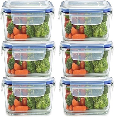 batwada Lock & Seal Kitchen Grocery Containers  - 500 ml Plastic Grocery Container, Fridge Container, Utility Box(Pack of 6, Clear)