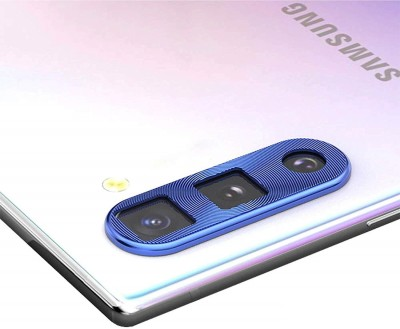 KHR Camera Lens Protector for Samsung Galaxy Note 10 Back Rear Camera Glass Lens Metal Alloy Protector Cap (Blue)(Pack of 1)