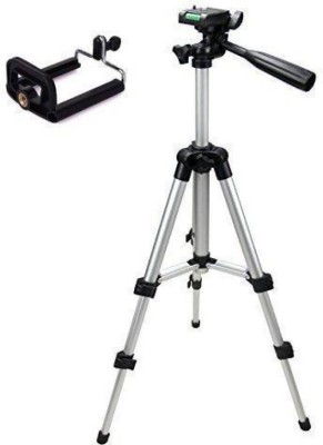 Zeom ™ Action camera Tripod-3110 Portable Adjustable Aluminum Lightweight Camera Stand With Three-Dimensional Head & Quick Release Plate For Canon Nikon Sony Cameras Camcorders and mobile holder Tri0pod tp012 (Silver & Black, Supports Up to 1500 g) Tripod(Silver, Supports Up to 1500) Tripod(Black, 1