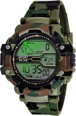 Fashionnow Look Bond Shock Chrnograph luminous Army Watch For Men and Boys Analog-Digital Watch  - For Boys