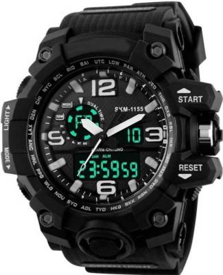 RUSTET Skmei SKM 1155 Black Sports Analog Digital Watch   For Men RUSTET Wrist Watches