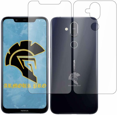 ArmourPro Front and Back Screen Guard for NOKIA8.1(Pack of 2)