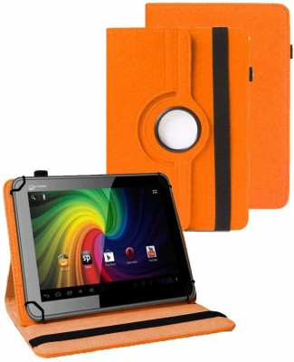 TGK Book Cover for Micromax Funbook P255 Tablet (7 inch)(Orange, Cases with Holder)