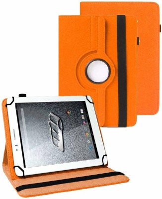 TGK Book Cover for Micromax Canvas Tab P470 Tablet (7 inch)(Orange, Cases with Holder)