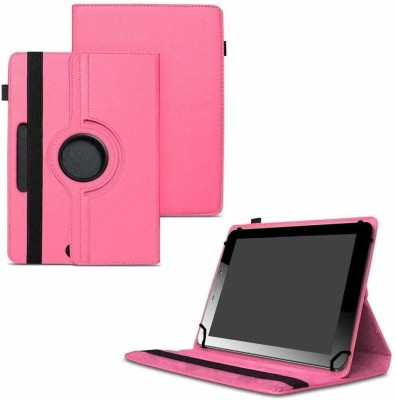 TGK Flip Cover for Micromax Funbook Mini P365 Tablet 7 Inch / Rotating Leather Case(Pink, Cases with Holder)