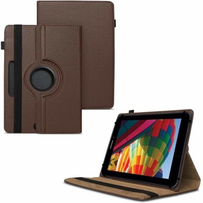 TGK Flip Cover for iBall Slide Performance Series 3G 7271-HD70 Tablet 8GB, WiFi, 3G, Voice Calling/ Rotating Case(Brown, Cases with Holder)