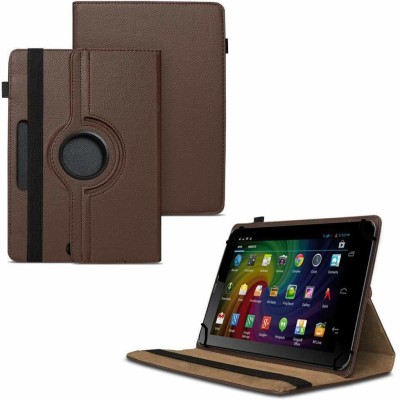 TGK Flip Cover for Micromax Funbook Duo P310 Tablet 7 inch/ Rotating Leather Stand Case(Brown, Cases with Holder)