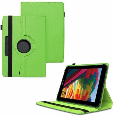 TGK Flip Cover for iBall Slide Performance Series 3G 7271-HD70 Tablet 8GB, WiFi, 3G, Voice Calling/ Rotating Case(Green, Cases with Holder)