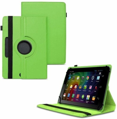TGK Flip Cover for Micromax Funbook Duo P310 Tablet 7 inch/ Rotating Leather Stand Case(Green, Cases with Holder)