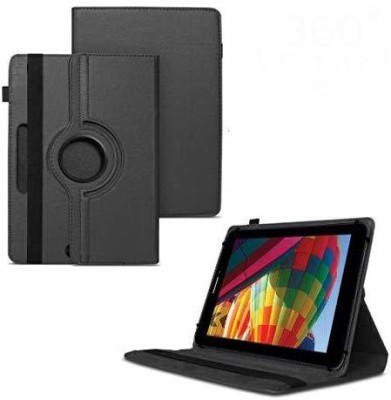 TGK Flip Cover for iBall Slide Performance Series 3G 7271-HD70 Tablet 8GB, WiFi, 3G, Voice Calling/ Rotating Case(Black, Cases with Holder)