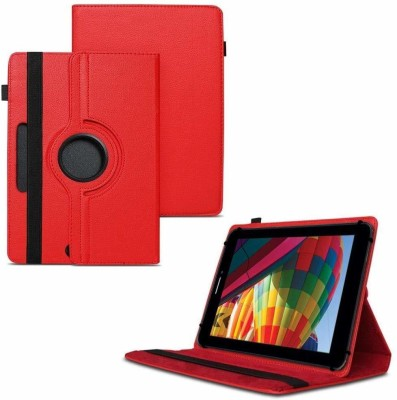 TGK Flip Cover for iBall Slide Performance Series 3G 7271-HD70 Tablet 8GB, WiFi, 3G, Voice Calling/ Rotating Case(Red, Cases with Holder)