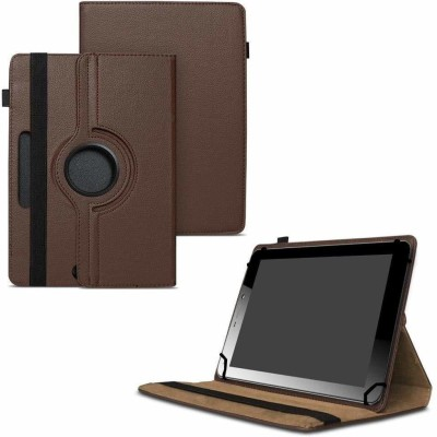 TGK Flip Cover for Micromax Funbook Mini P365 Tablet 7 Inch / Rotating Leather Case(Brown, Cases with Holder)