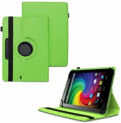 TGK Flip Cover for Micromax Funbook Mini P410i Tablet 7 inch 4GB, Wi-Fi3G+Voice Calling / Rotating Leather Case(Green, Cases with Holder)