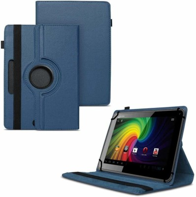 TGK Flip Cover for Micromax Funbook P255 Tablet 7 inch / Rotating Leather Stand Case(Blue, Cases with Holder)