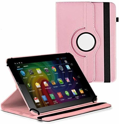 TGK Flip Cover for Micromax Funbook Duo P310 Tablet 7 inch/ Rotating Leather Stand Case(Pink, Cases with Holder)