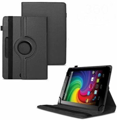 TGK Flip Cover for Micromax Funbook Mini P410i Tablet 7 inch 4GB, Wi-Fi3G+Voice Calling / Rotating Leather Case(Black, Cases with Holder)