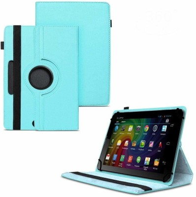 TGK Flip Cover for Micromax Funbook Duo P310 Tablet 7 inch/ Rotating Leather Stand Case(Blue, Cases with Holder)