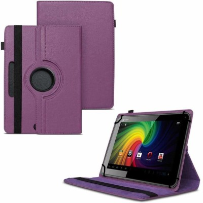 TGK Flip Cover for Micromax Funbook P255 Tablet 7 inch / Rotating Leather Stand Case(Purple, Cases with Holder)