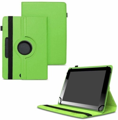TGK Flip Cover for Micromax Funbook Mini P365 Tablet 7 Inch / Rotating Leather Case(Green, Cases with Holder)