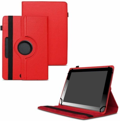 TGK Flip Cover for Micromax Funbook Mini P365 Tablet 7 Inch / Rotating Leather Case(Red, Cases with Holder)