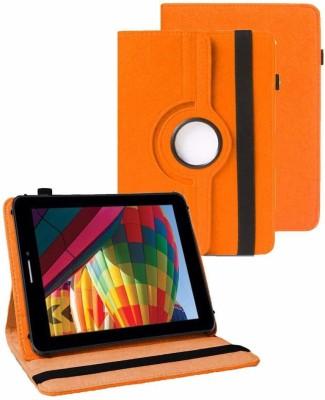 TGK Flip Cover for iBall Slide Performance Series 3G 7271-HD70(Orange, Cases with Holder)