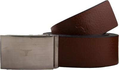 bulchee Men Casual Brown, Black Genuine Leather Reversible Belt