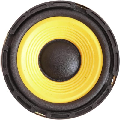 Electronicspices 5'' inch woofer Audio Speaker 4ohm 50w HI-FI Speaker Sound Bass (Yellow) Subwoofer(Powered , RMS Power: 50 W)