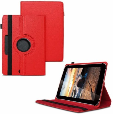 TGK Flip Cover for iBall Slide 3G Q7218 Tablet 7 inch, 8GB, Wi-Fi+3G+Voice Calling/ Rotating Stand Case(Red, Cases with Holder)