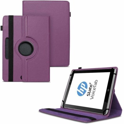 TGK Flip Cover for HP Slate 7 VoiceTab Tablet (WiFi, 3G, Voice Calling) 7 inch / Rotating Stand Case(Purple, Cases with Holder)