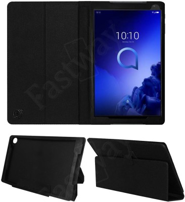 Fastway Flip Cover for Alcatel 3T 10 (10 inch with Wi-Fi+4G Tablet)(Black, Cases with Holder)