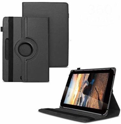 TGK Flip Cover for iBall Slide 3G Q7218 Tablet 7 inch, 8GB, Wi-Fi+3G+Voice Calling/ Rotating Stand Case(Black, Cases with Holder)