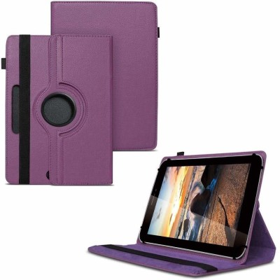 TGK Flip Cover for iBall Slide 3G Q7218 Tablet 7 inch, 8GB, Wi-Fi+3G+Voice Calling/ Rotating Stand Case(Purple, Cases with Holder)