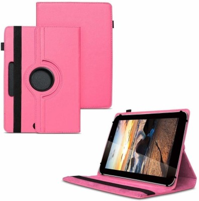 TGK Flip Cover for iBall Slide 3G Q7218 Tablet 7 inch, 8GB, Wi-Fi+3G+Voice Calling/ Rotating Stand Case(Pink, Cases with Holder)