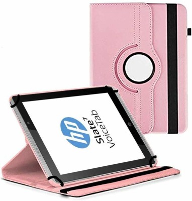 TGK Flip Cover for HP Slate 7 VoiceTab Tablet (WiFi, 3G, Voice Calling) 7 inch / Rotating Stand Case(Pink, Cases with Holder)